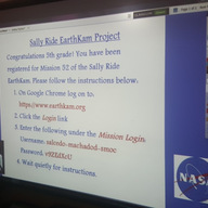 5th Graders participating in the Sally Ride EarthKam Project in the spotlight